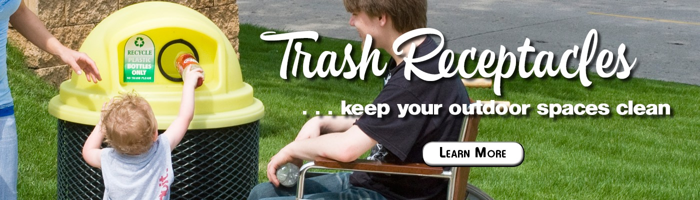Pilot Rock Brand Trash Receptacles