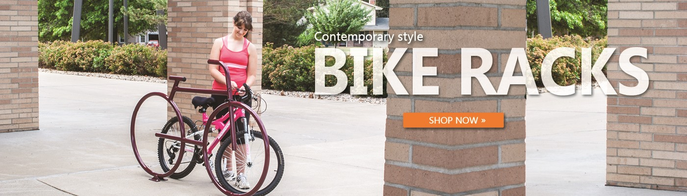 Contemporary bike racks for all spaces.