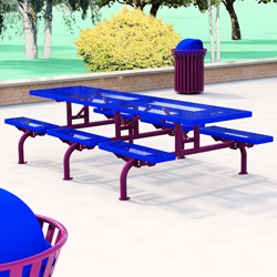 T600 series caterpillar picnic table 10 ft with 6 short for 10 ft picnic table