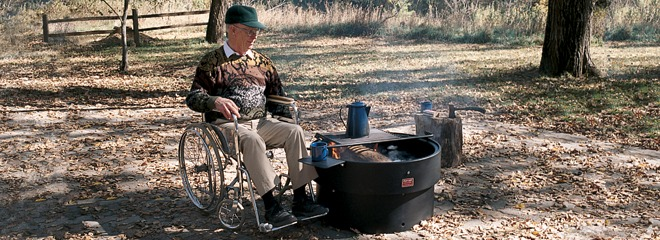 Accessible Campfire Ring with Single Level Cooking Grate