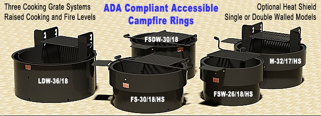 Accessible Camp Fire Rings