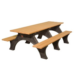 Recycled Plastic Picnic Table With Arched Frame   ART Series: Picnic Tables:  Pilot Rock