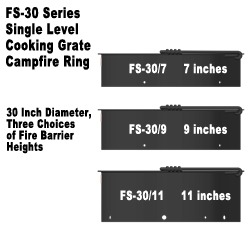Three Heights for FS-30 Firerings