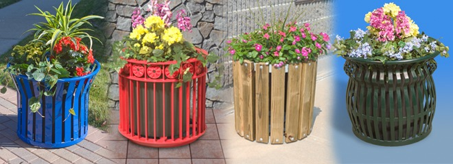 Floral planters add color to any landscape