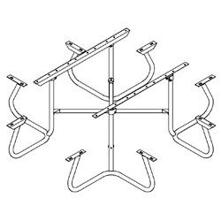 frame kit square portable picnic table sqt series - Picnic Table Kit