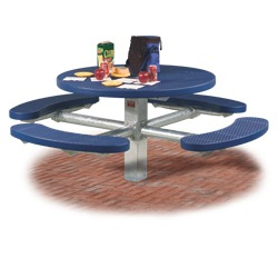 T300T400 Series Round Pedestal Table With CURVED Seats Using