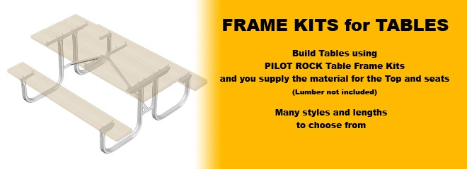 Picnic Tables Frame Kits Only Series Pilot Rock - Ready to assemble picnic table