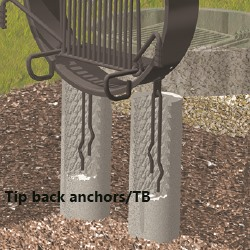 Tip back anchors /TB