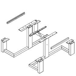 frame kit universal access square frame picnic table wpts series picnic tables frame kits only pilot rock - Picnic Table Kit