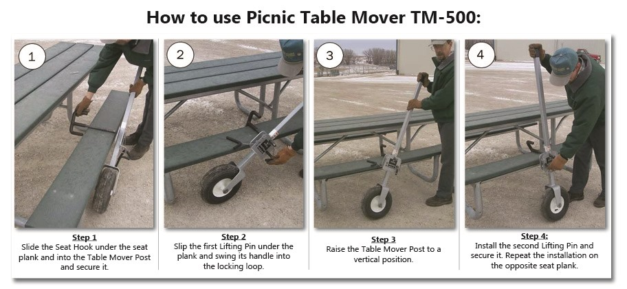 Picnic Table Mover TM Accessories Pilot Rock - Picnic table mover