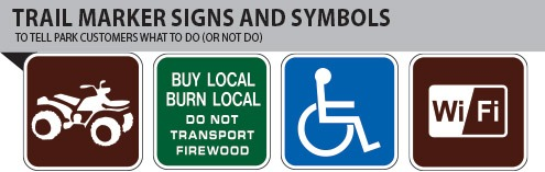 Trail Marker Signs and Symbols