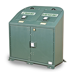 Model BPRT2 - Bear Resistant Trash and Recycling Receptacle - 2 Modules