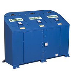 Model BPRT3 - Bear Resistant Trash and Recycling Receptacle - 3 Modules