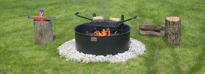 Campfire Rings Fire Ring With Grill Cooking Grate