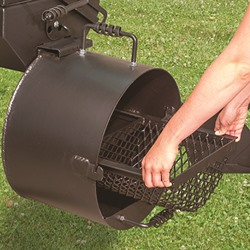 Smoker fire basket