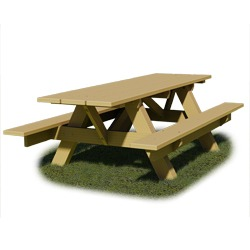 AFT Series - End Accessible Traditional A-Frame Picnic Table - Using Lumber