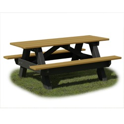 AFT Series - Traditional A-Frame Picnic Table - Using ALL 100% Recycled Plastic
