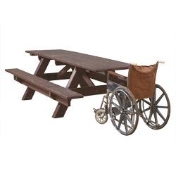 End Accessible Traditional A-Frame Picnic Table - AFT Series