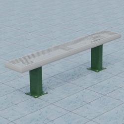 Athletic Bench - APB Series - Using Perforated Steel.