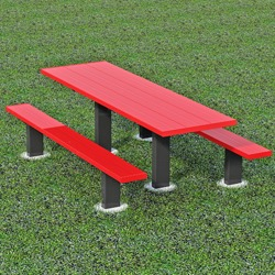 APT Series Multi-Pedestal Picnic Table - Using Aluminum