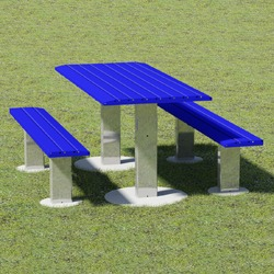 APT Series Multi-Pedestal Picnic Table - Using Formed Steel Channel