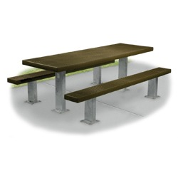 Snow Load/ Extreme Load Rated Multi-Pedestal Picnic Table - APT Series