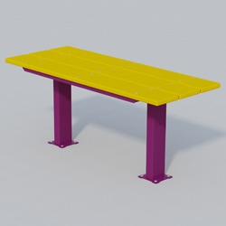 APTX Series Full Size Pedestal Utility Table - Using Recycled Plastic