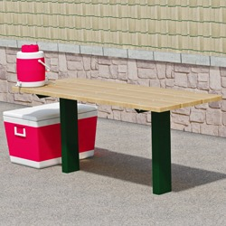 APTX Series Full Size Pedestal Utility Table - Using Lumber