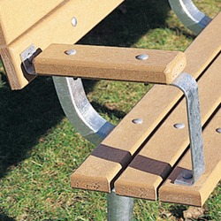 Armrests - Model AR-1 - for CXB Channel Benches.
