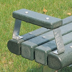 Armrests - Model AR-6 - for WB and OWB Flat Benches.