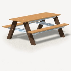 AT Series - Traditional A-Frame Picnic Table - Using Recycled Plastic