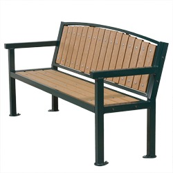 Square Frame Bench - A clean square cut frame design.