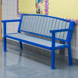 Square Frame Bench - with Backrest - A clean square cut frame design.