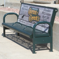 Custom Signs for B400 and B410 Sign Benches