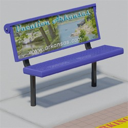 Custom Signs for B410 Traditional Seat Sign Benches