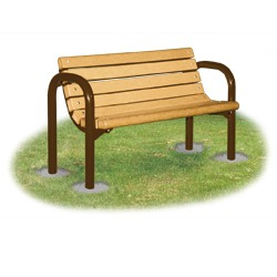 Riverview Bench - Flat or Contour Seats in Wood or Plastic - B60 Series.