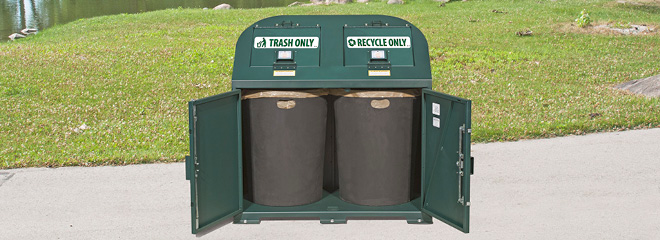 Bear Resistant Trash Receptacle BPRT-72