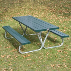BTUG Series Lighter Duty Picnic Table - Using Aluminum