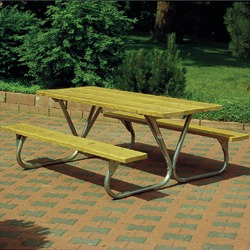 BTUG Series Lighter Duty Picnic Table - Using Lumber