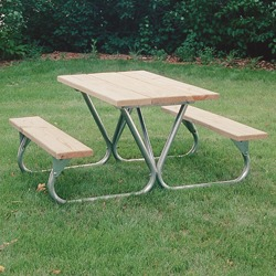 BTXG Series Lighter Duty Picnic Table - Using Lumber