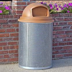 CN-R/R/G-55 Galvanized Perforated Steel Trash Receptacle #2
