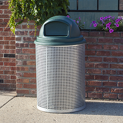 CN-R/R/G-55 Galvanized Perforated Steel Trash Receptacle #3