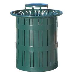 Round Trash and Recycling Receptacles - Amherst Collection