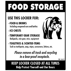 Optional Decal for BPFL Food Storage Lockers