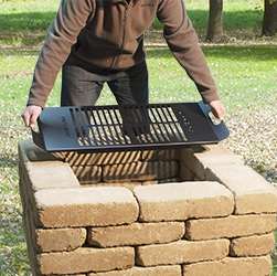 DIG-U4 Drop-In Grate with Pavers