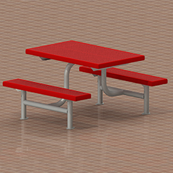 FCT Food Court Table Perforated Red