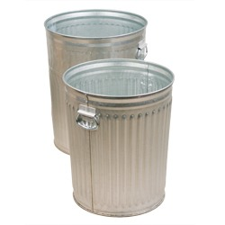 Federal Duty Galvanized Steel Trash Cans with or without Lids