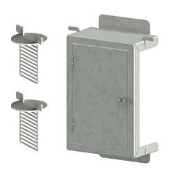 FPI-D/S Optional Access Door Detail, Stainless Steel.