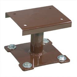 Elevated Pedestal Mounts for Round and Square Ash Receptacles