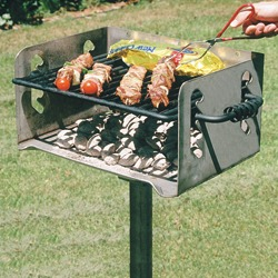 NS-20 Stainless Steel Charcoal Grill